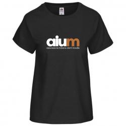 T-shirt AIUM nera donna
