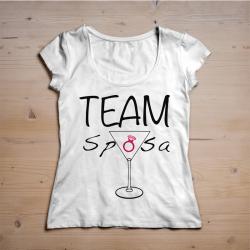T-shirt Team sposa