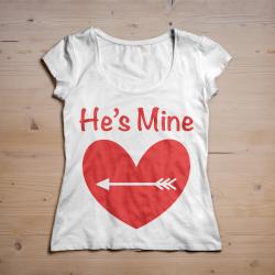 T-shirt He's mine