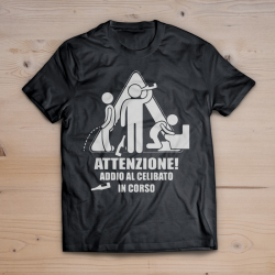T-shirt Attenzione addio al celibato in corso