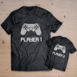 T-shirt player 1 player 2