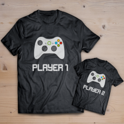 T-shirt player 1 player 2 XBOX