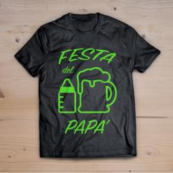 T-shirt festa del papà (stampa VERDE FLUO)