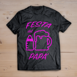 T-shirt festa del papà (FUCSIA FLUO)