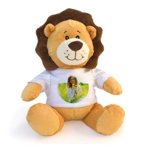leone peluche  peluche leone con t-shirt personalizzabile