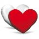 cuscino cuore bicolore