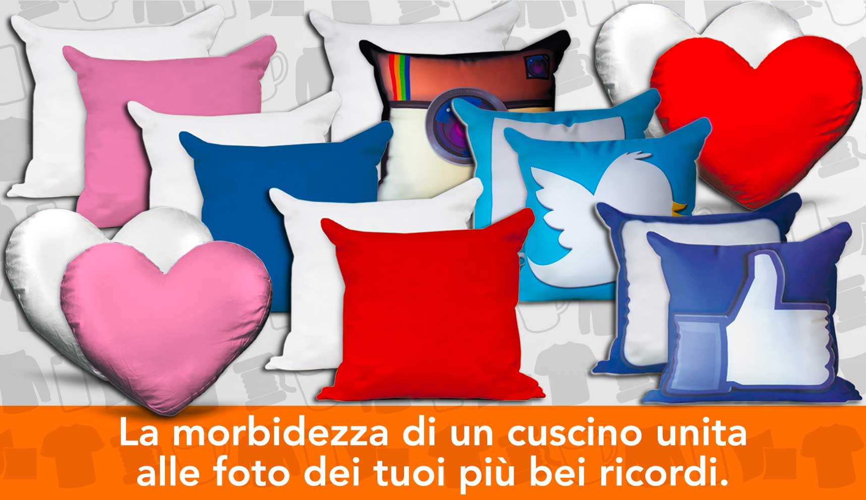 Crea il tuo cuscino personalizzato